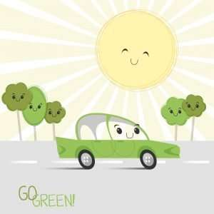 Hybrid car in hot weather