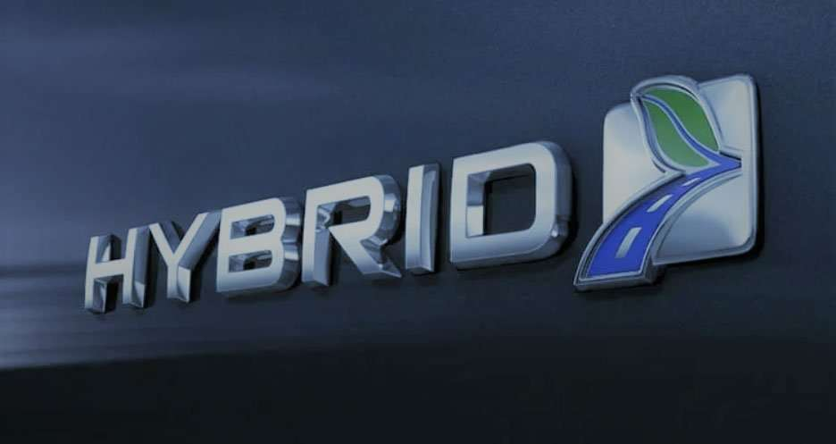 Hybrid car logo image